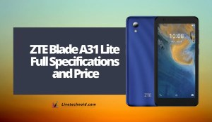 ZTE Blade A31 Lite Full Specifications and Price