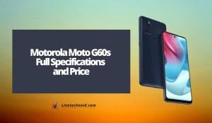 Motorola Moto G60s Full Specifications and Price