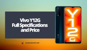 Vivo Y12G Full Specifications and Price