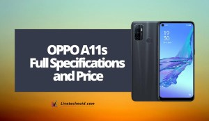 OPPO A11s Full Specifications and Price