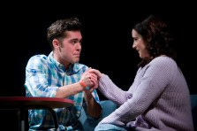 Dean Bone and Lauren Kellegher in Rendezvous (Words With Love by Nina Berry) at Live Theatre