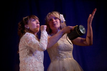 Karen Traynor and Zoe Lambert in Rendezvous (The Light by Deborah Bruce) at Live Theatre