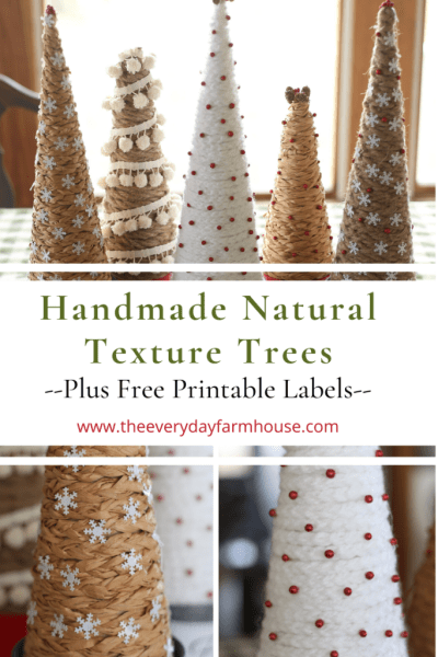 Homestead Blog Hop Feature - Handmade Natural Texture Trees by The Everyday Farm House