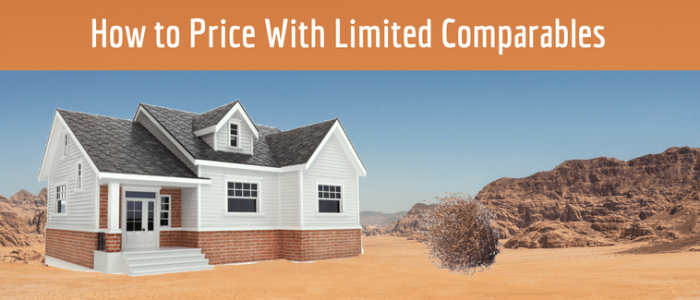 no comparable properties how to price a house to sell