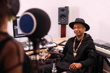 Marcus Bell in the studio