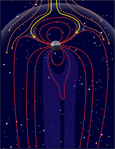 En illustration som alltså får mig att tänka på Hilma af Klints kompositioner.