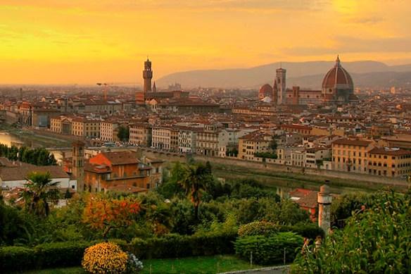 Fotografi över staden Florens, där du eventuellt kan uppleva Stendahls syndrom.