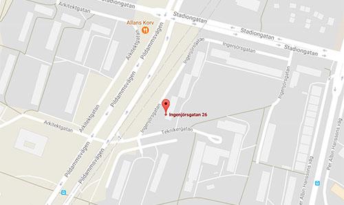 Kartbild på min nya domän i Malmö.