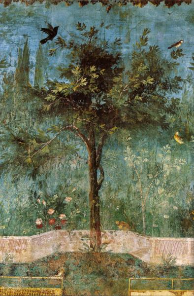 Del av fresk i Villa Livia.