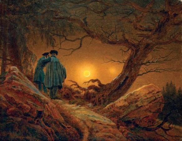 Målning av konstnären Caspar David Friedrich. Målningen påminner mycket om den som finns på Skånetrafiken.