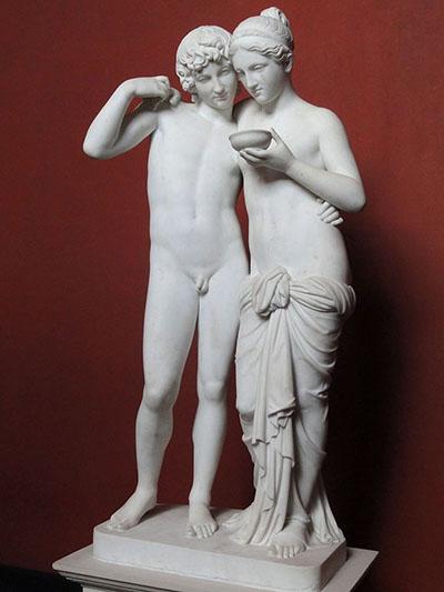 Skulptur på Thorvaldsens museum.