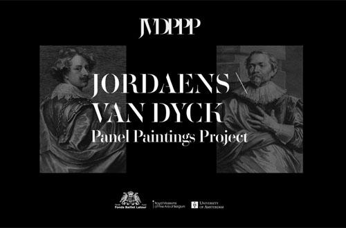 Bild som visar hur webbsidan (som handlar omt Van Dyck och Jordaens) ser ut.