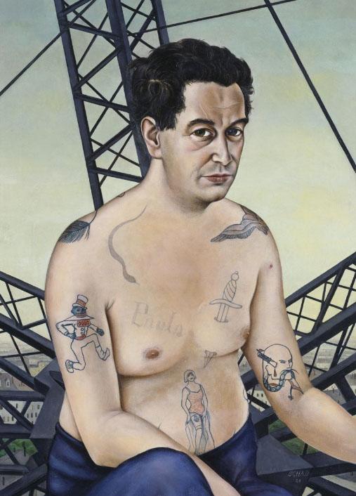 Målningen som föreställer Egon Erwin Kisch.