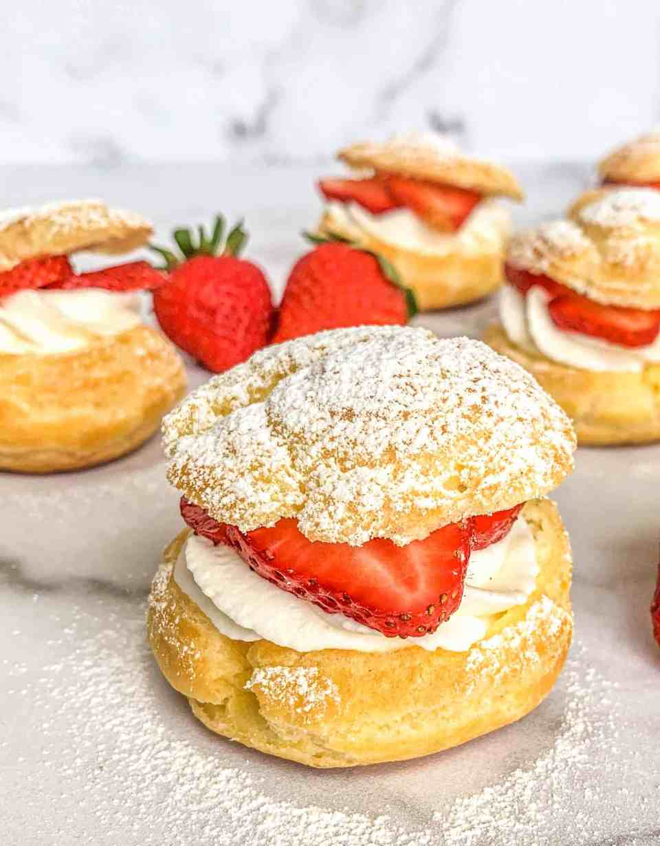 Strawberry Shortcake Cream Puff