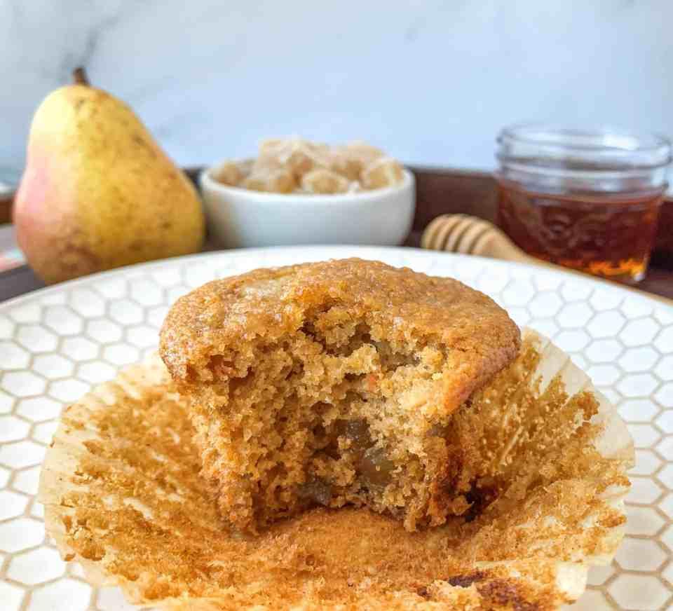Honey Ginger Pear Muffins