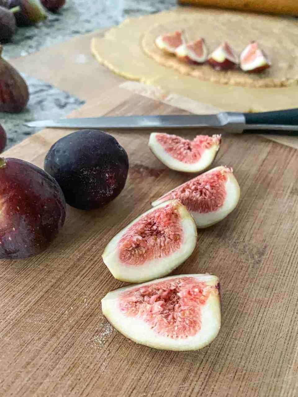 Hazelnut Fig Galette