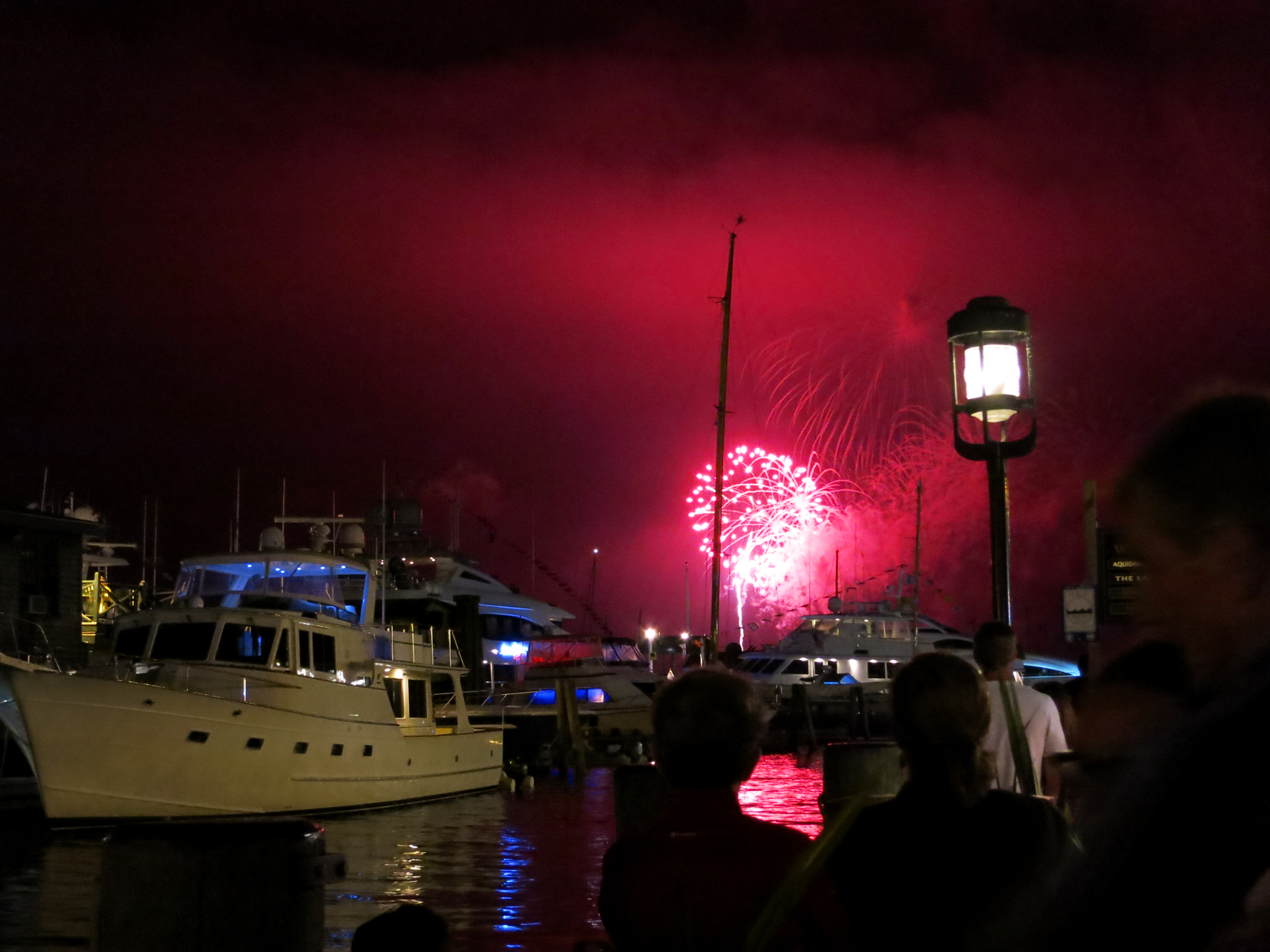 ROCKET'S RED GLARE OVER NEWPORT HARBOR - live. travel. adventure. bless. | Glowing red firework lighting up the sky in Newport, RI during the 4th of July fireworks. Happy 4th of July!