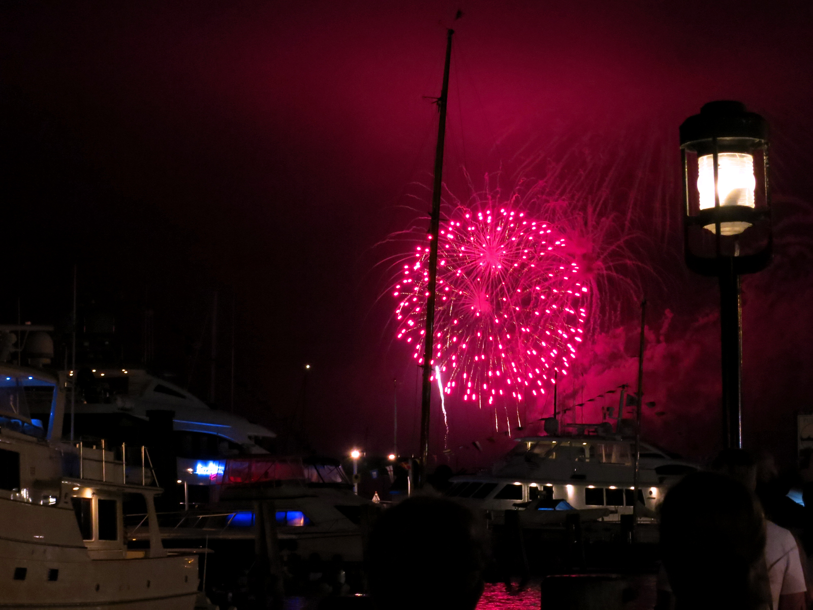 ROCKET'S RED GLARE OVER NEWPORT HARBOR - live. travel. adventure. bless. | Stunning red firework shimmering over Newport Harbor during the 4th of July fireworks display in Newport, RI. Happy 4th of July!