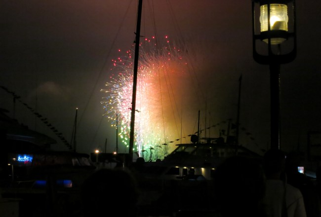 ROCKET'S RED GLARE OVER NEWPORT HARBOR - live. travel. adventure. bless. | The spectacular finale of the Newport Harbor Fireworks display in Newport, RI. Happy 4th of July!