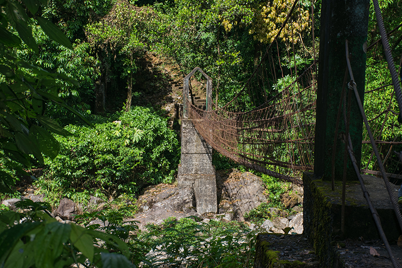 First suspension bridge