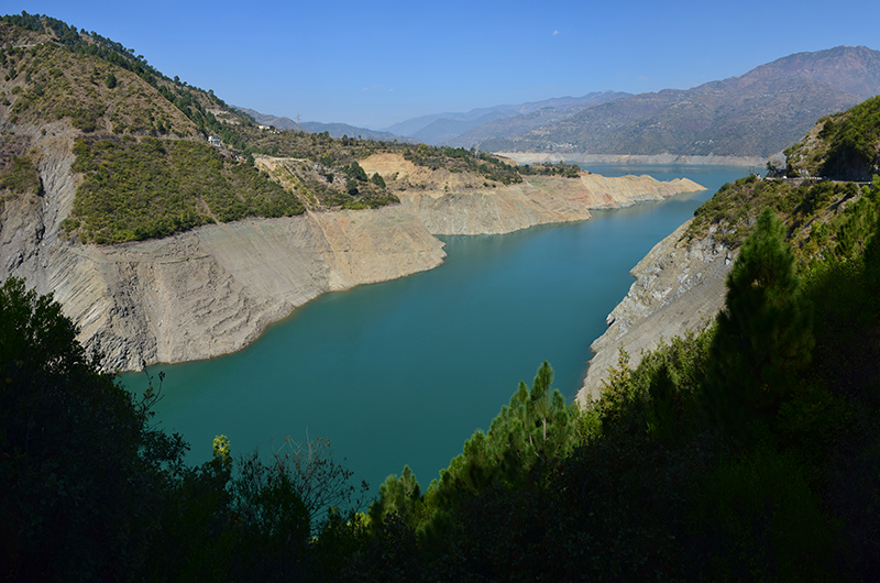 Tehri dam backwaters