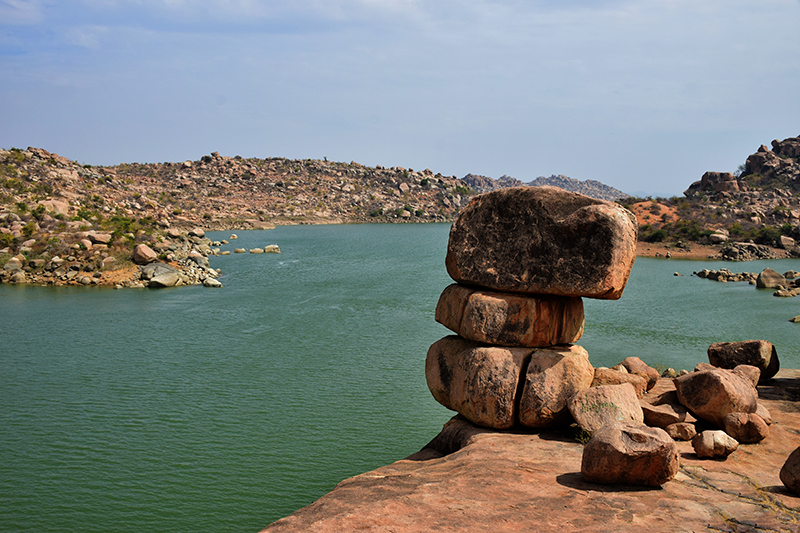 Boulder art @ Sanapur lake