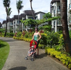 My friend Hana on our many walks at Sheraton Resort, Denaru