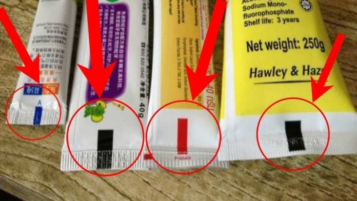 Atunci când cumpărați pastă de dinți, dați atenție culorii pătratului de pe tub!