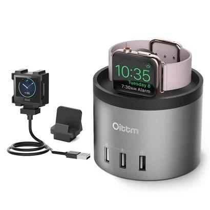 【Oittm】Apple Watch充電+3SUBポートが一体となった多機能スタンド