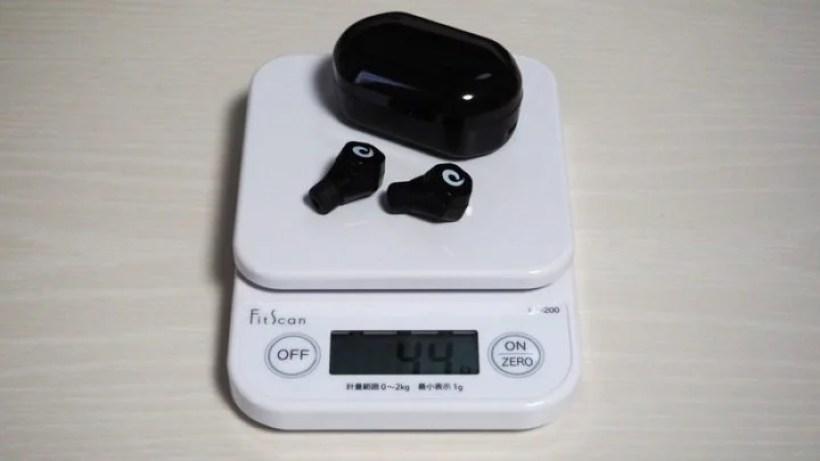 充電ケース込みの重量