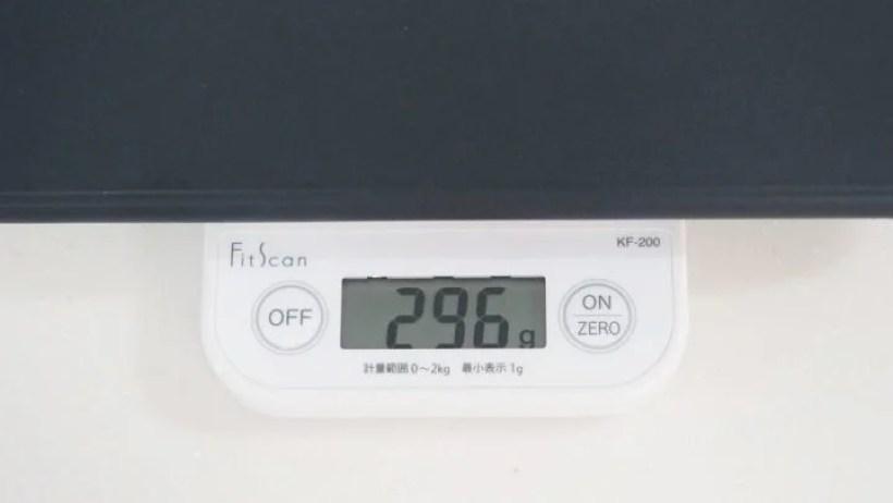 Smart Keyboard Folio単体の重量は296g