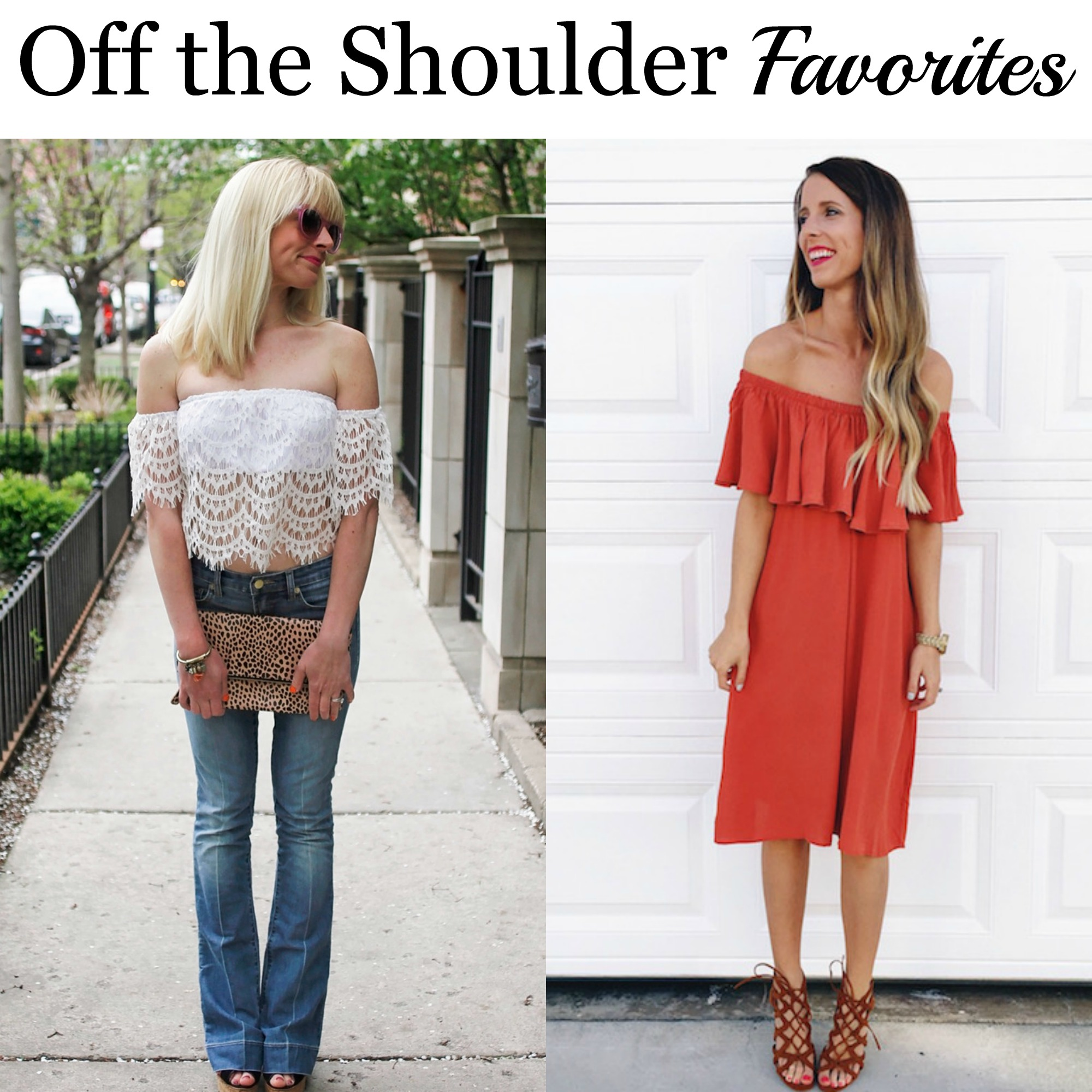 The favorites for the week are Johanna from 101 Things I Love http://www.101thingsilove.com/blog/delicate522016 and Erin of Happily Howards http://happilyhowards.com/2016/04/off-the-shoulder-trend.html