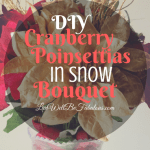 DIY Cranberry Poinsettias In Snow Bouquet