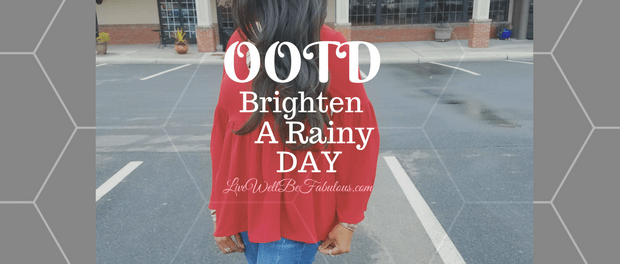 OOTD Brighten A Rainy Day Featuring Sheinside's Bell Sleeve Blouse