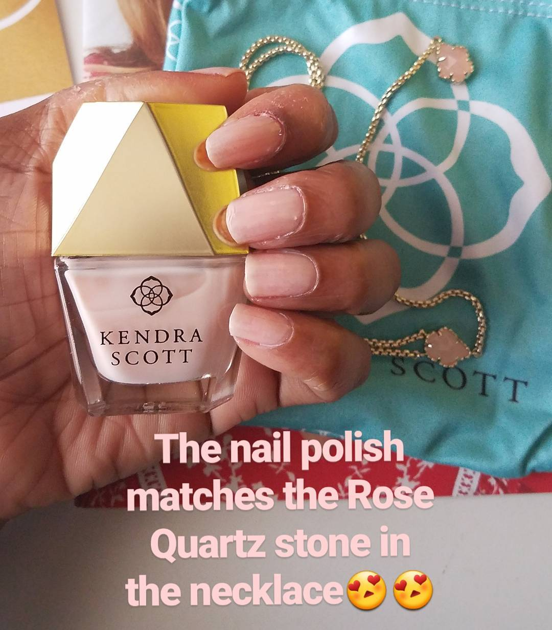 Goodies from the kendrascott Color Bar party I attended withhellip