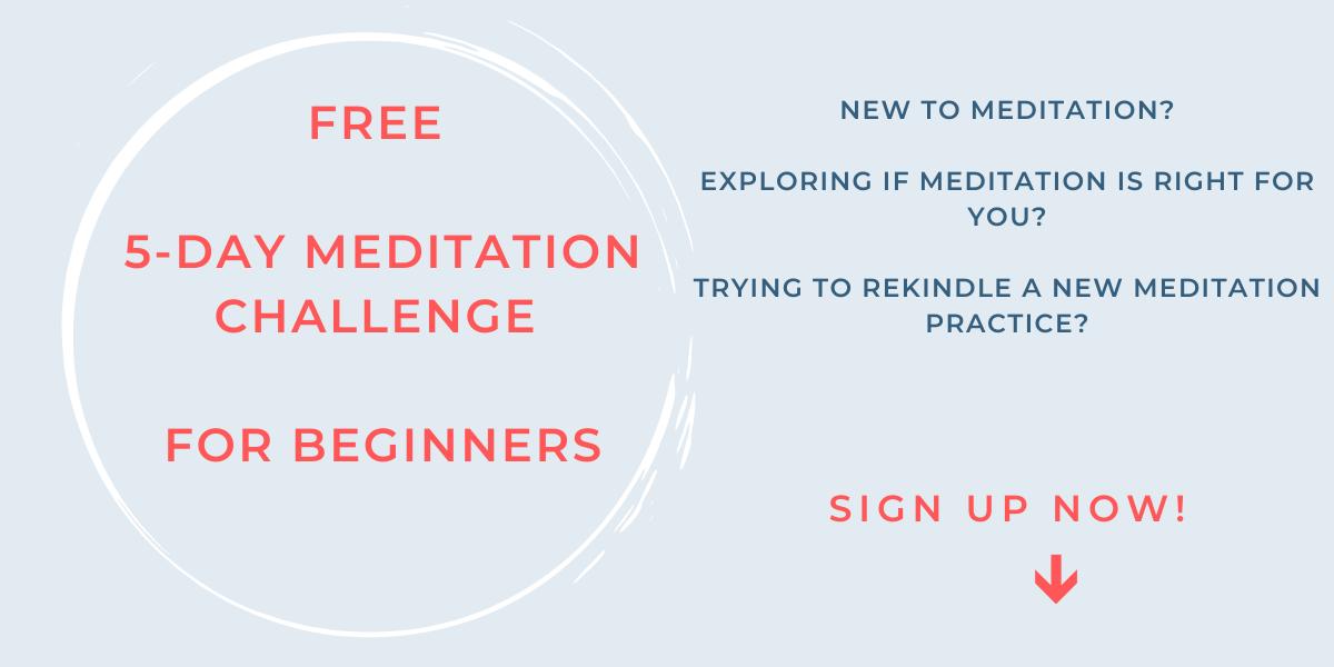 Webpage Meditation Challenge for Beginners Banner
