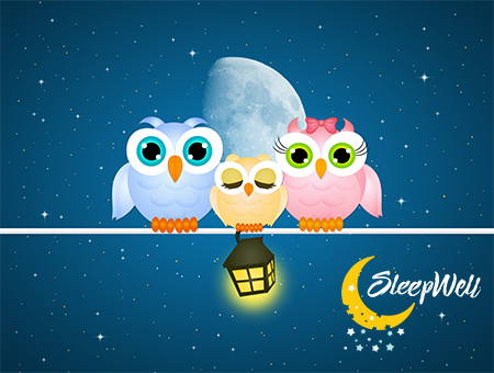 Sleep Well Blog Pic of Owls on a wire