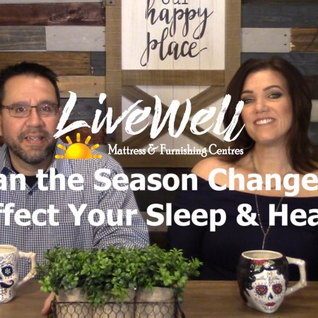 Can Seasonal Changes Affect Your health? Javier Casillas and gretchen casillas on set at Good Mornings and Live Well