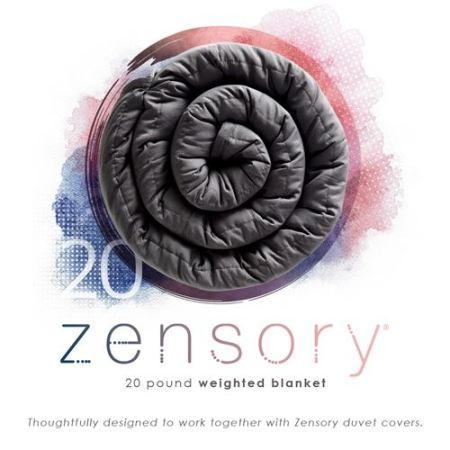 20 lbs weighted blanket by zensory at Live Well Mattress & Furnishing Centres