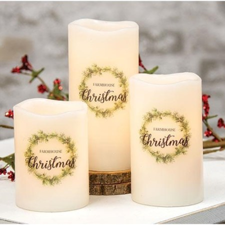 """6"""" pillar battery operated candle"""