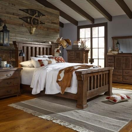 Forrester Rustic Solid Wood Bedroom set