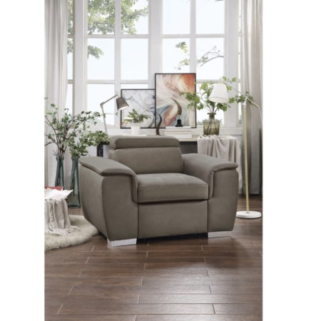 Ferriday Chair with Pullout Ottoman
