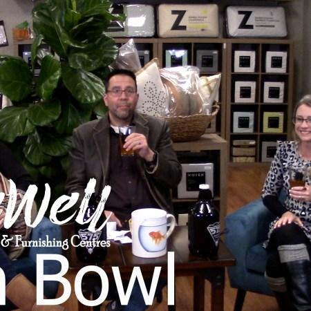 Javier Casillas, Gretchen Casillas, Melanie Keithley in the Fish Bowl series at Live Well Mattress & Furnishing Centres