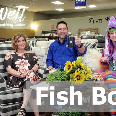 Javier Casillas, Gretchen Casillas, and Melanie Keithley in Fishbowl, the weekly video from Live Well Mattress & Furnishing Centres