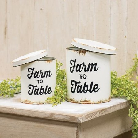 farmhouse canisters for kitchen counter