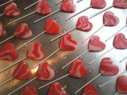 heart shaped hand made lollipops