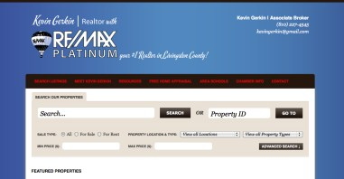 Kevin gerkin remax platinum website by Rockwell Art and Design