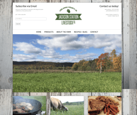 jacksonstation.com small scale farm website design