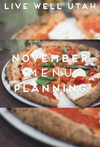 November Menu Planning