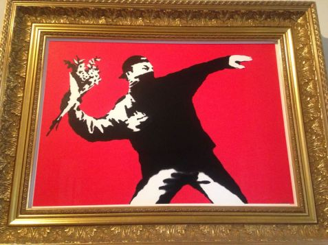 'Rage, Flower Thrower' by Banksy Credit: Devina Buckshee